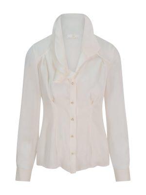 White Pearl Chiffon Blouse