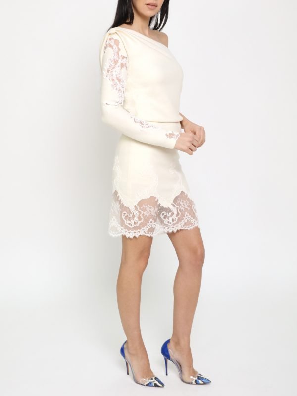 White Coral Lace Dress