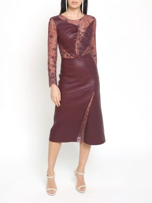 Burgundy Crystal Dress