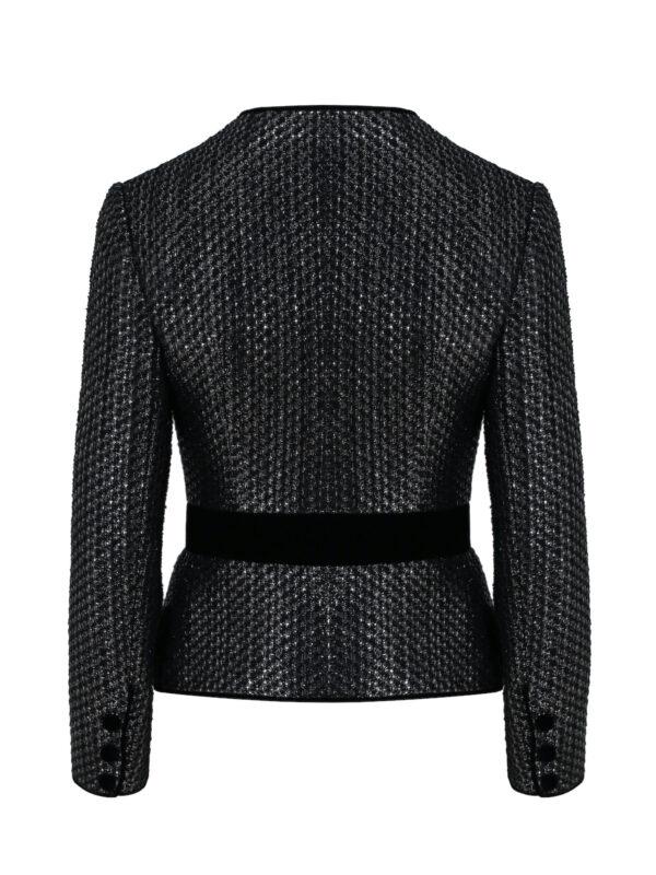 Black Pearl Shimmery Tweed Jacket