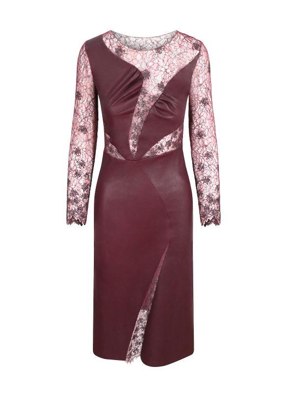 Burgundy Crystal Dress