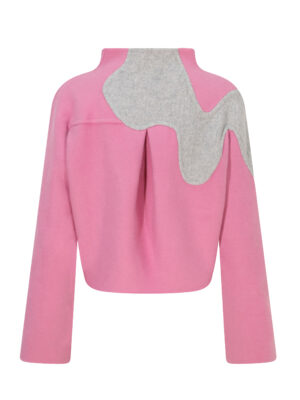 Orchid Kimono Wool Jacket (Pink)