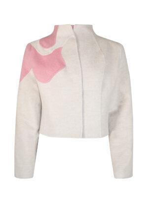 Orchid Kimono Cashmere Jacket (Coral)