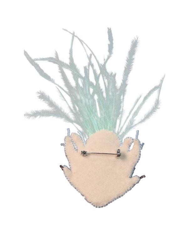 SAFIRO Azore Peacock Brooch