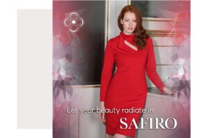 SAFIRO Red Dress